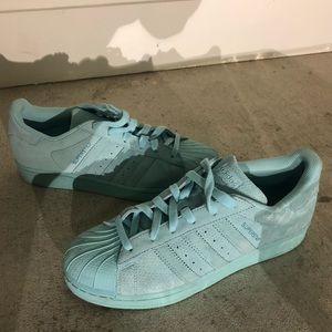 Adidas Superstar Light Blue Limited Auth US7